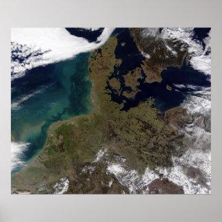Europa ocidental norte poster