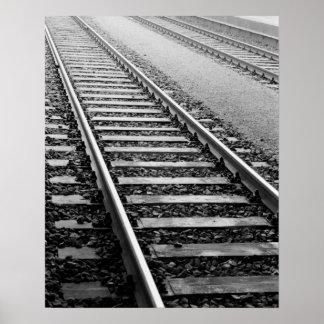 Europa, suiça, Zurique. Trilhas do trem Pôster