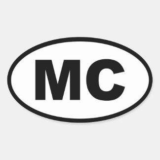 Europeu de Monaco MC Adesivo Oval