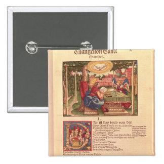 Evangelho de St Matthew, livro mim Bóton Quadrado 5.08cm