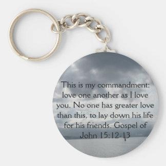 Evangelho do 15:12 de John - 13 Chaveiro