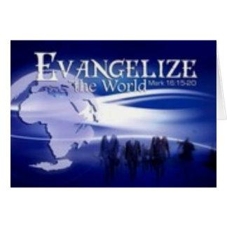 evangelise o mundo cartoes