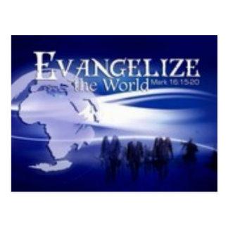 evangelise o mundo cartões postais