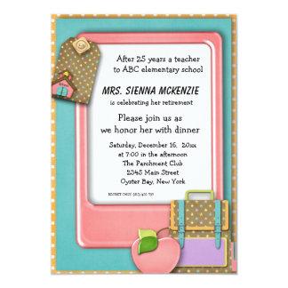 Evento da escola convites personalizado