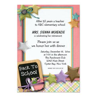 Evento da escola convite personalizados