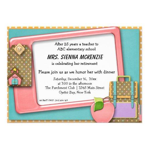 Evento da escola convite personalizado