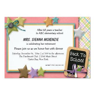 Evento da escola convite 12.7 x 17.78cm