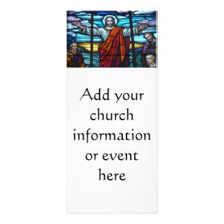 Evento do boletim da igreja do cristo da janela de planfeto informativo colorido