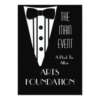 Evento formal do Fundraiser do traje de cerimónia Convite 12.7 X 17.78cm