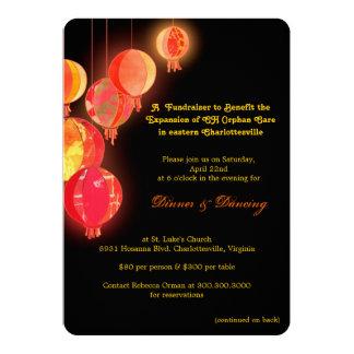 Evento Fundraising temático asiático à moda Convite 12.7 X 17.78cm