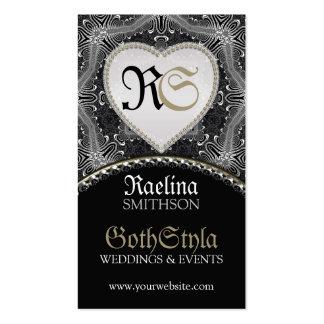 Eventos escuros góticos alternativos & planejador  cartão de visita