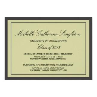 Eventos formais tradicionais da graduação da convite