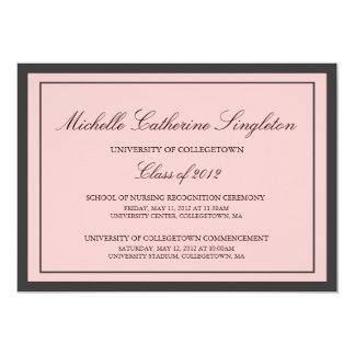 Eventos formais tradicionais da graduação da convite 12.7 x 17.78cm