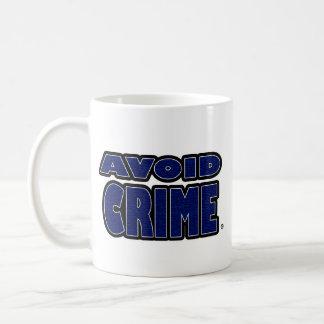 Evite a caneca exprimida azul do crime