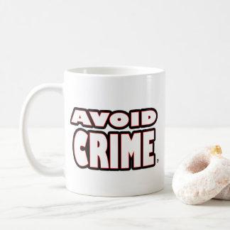 Evite a caneca exprimida branco do crime