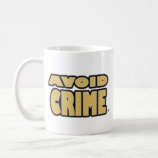 Evite a caneca exprimida ouro do crime