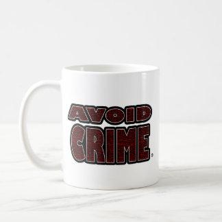 Evite a caneca exprimida vermelho do crime