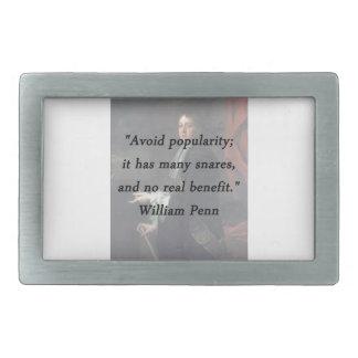 Evite a popularidade - William Penn
