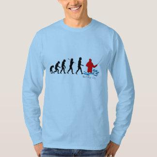 Evolução da camisa do homem da pesca
