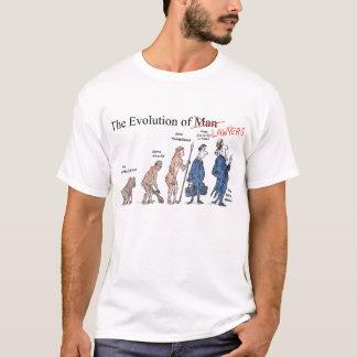 Evolução da camisa do T dos homens dos advogados