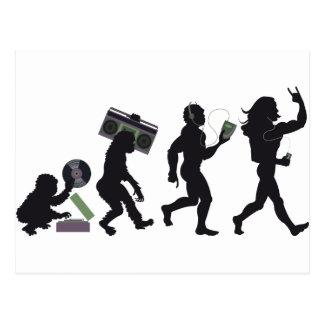 Evolução da música cartão postal