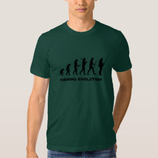 Evolução da pesca - camisa engraçada do pescador tshirts