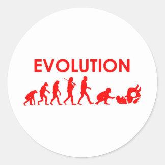 Evolução de Jiu Jitsu Adesivos Em Formato Redondos