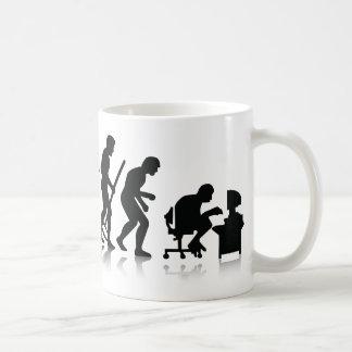 Evolução de viciados de computador caneca de café