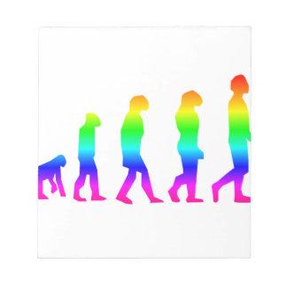 Evolução do arco-íris bloco de anotação