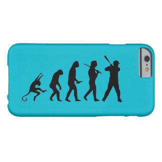 Evolução do basebol - iPhone engraçado 6 casos Capa Barely There Para iPhone 6