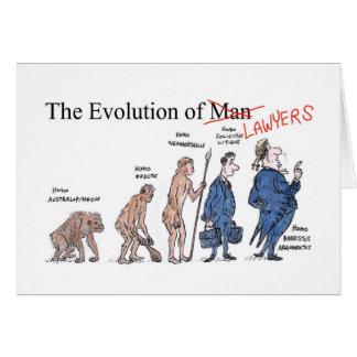 Evolução do cartão de cumprimentos dos advogados