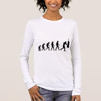 Evolução do encaixotamento camiseta manga longa