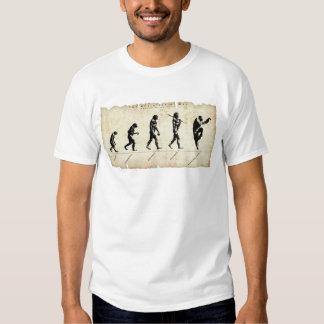 Evolução do fu do homem/kung tshirts