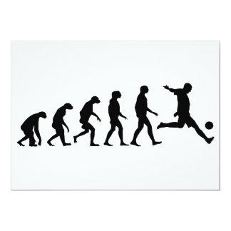 Evolução do futebol convite 12.7 x 17.78cm