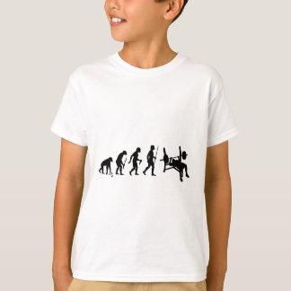 Evolução do homem e da imprensa de banco t-shirts