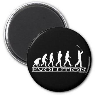 Evolução - homem - golfe imãs