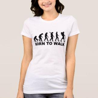 Evolução que caminha o nascer para andar