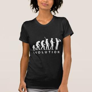 Evolução saxofone black camisetas