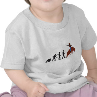 evolution of ele cowboy rodeo bull riding camiseta