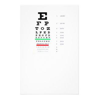exame de olho flyer 13.97 x 21.59cm