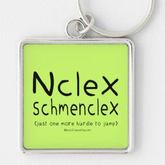 Exame dos cuidados de NCLEX Schmenclex Chaveiro Quadrado Na Cor Prata