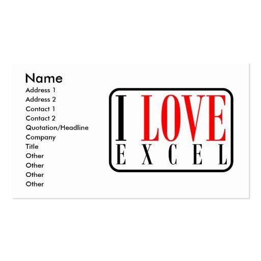 Excel, Alabama Cartões De Visitas