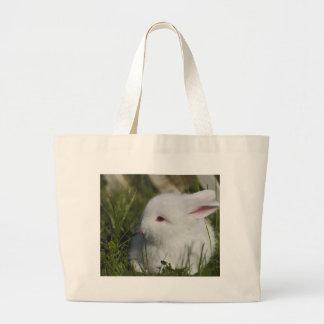 Excelente bonito do coelho para a páscoa bolsa tote grande