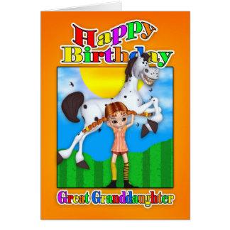 Excelente - cartão de aniversário da neta - com