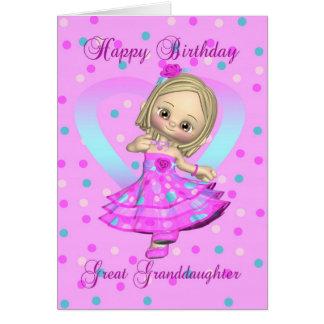 excelente - cartão de aniversário da neta - rosa e