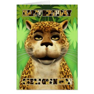 Excelente - cartão de aniversário da selva do leop
