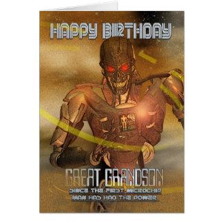 Excelente - cartão de aniversário do neto com Cybo