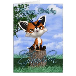 Excelente - cartão de aniversário do neto com Fox