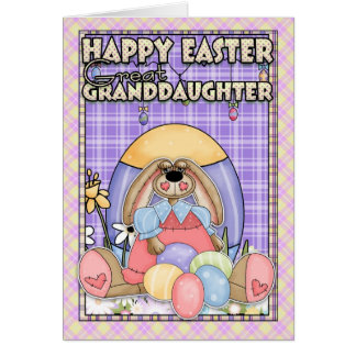Excelente - cartão de páscoa da neta - coelhinho d