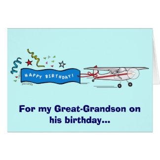 Excelente do feliz aniversario - avião do neto cartao